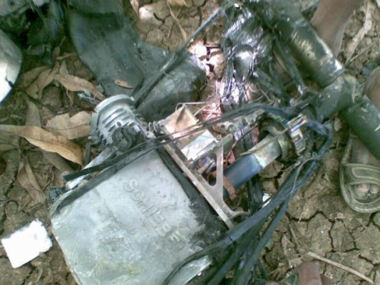 Purported drone wreckage - al Shabaab