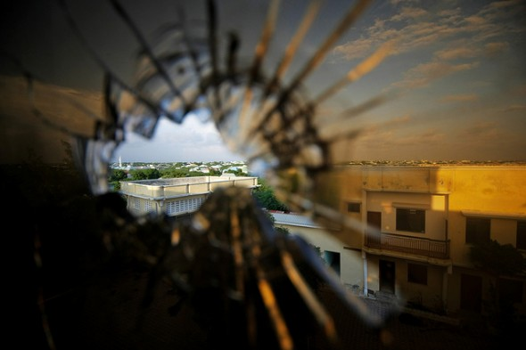 Mogadishu through a bullet hole (UN/Flickr)