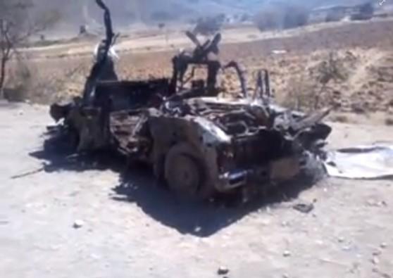 Destroyed vehicle YEM133