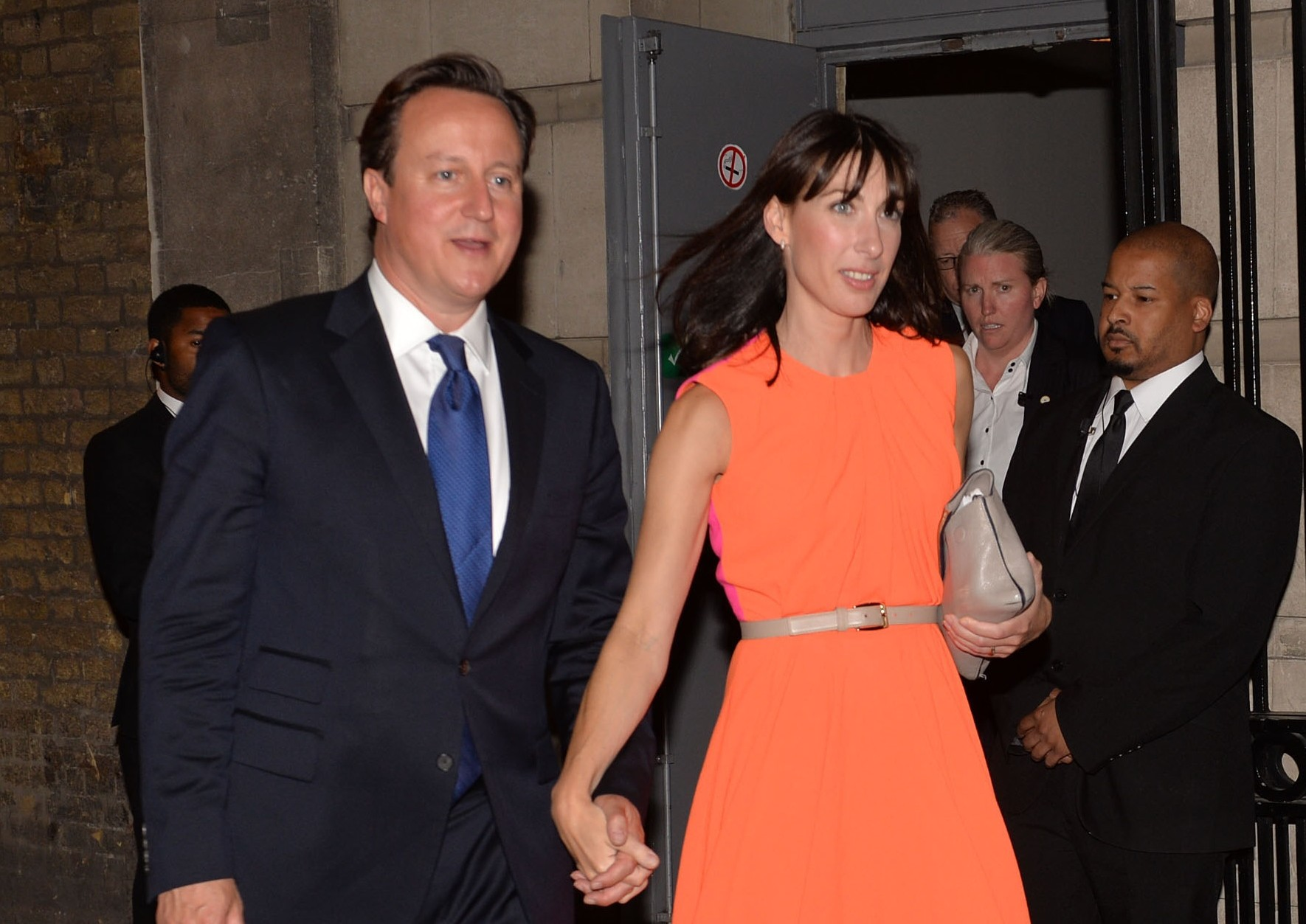 David and Samantha Cameron arrive at the 2013 Conservative Summer Party