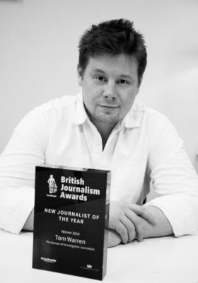 Tom Warren, British Journalism Awards, new journalist of the year