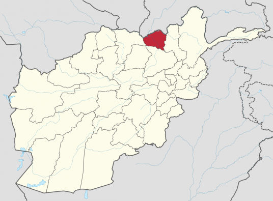 A map of Afghanistan with Kunduz highlighted.