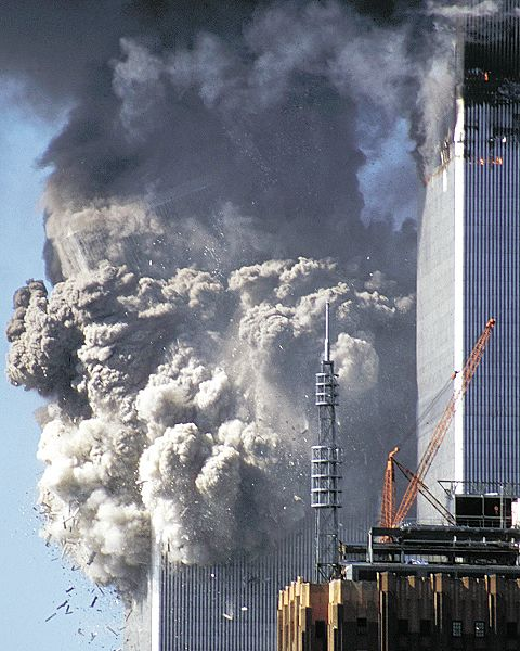 911 Archive FootageSouth Tower collapsing