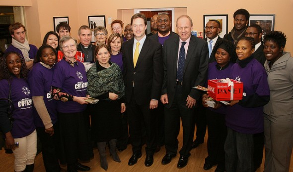 Nick Clegg Announces the End of Detention of Children for Immigration Purposes  Nick Clegg, Sarah Teather and Damian Green with members of Citizens UK. Crown copyright
