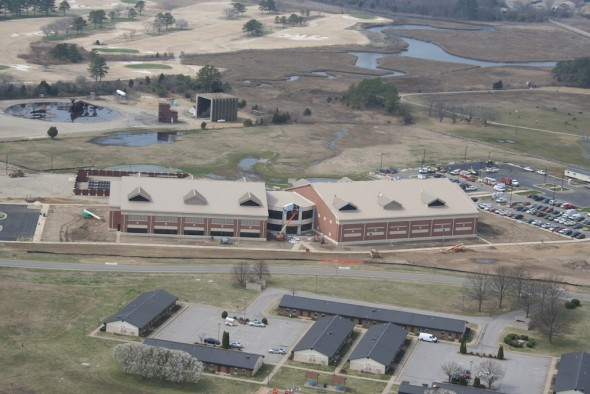 The Air Force's Distributed Common Ground Station (DCGS) is a 120,000 square foot facility being built by the U.S. Army Corps of Engineers Norfolk District and their contractors. The building will serve as a collection and processing point for intelligence and imagery to be used by units all around the world.