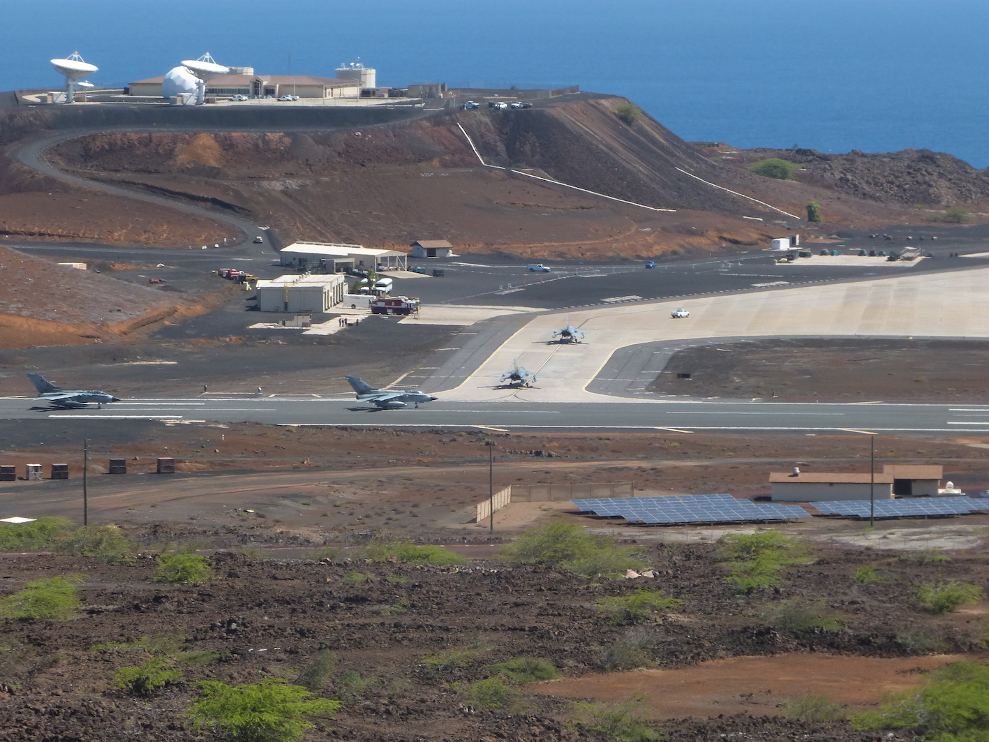 British Tornado jets on the tarmac at RAF Ascension Island (Picture Crown Copyright)