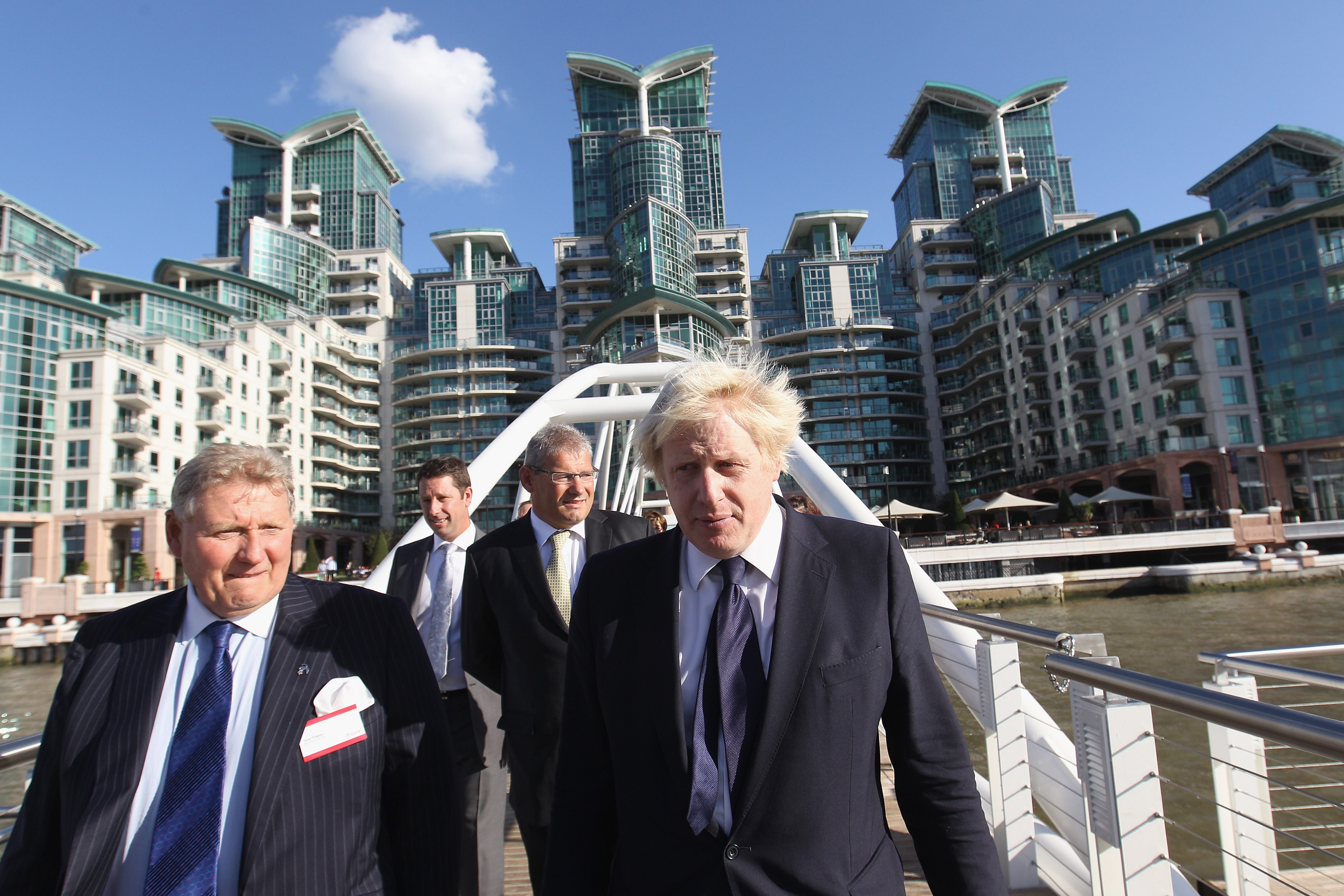 Housing chief executive Tony Berkeley with Boris Johnson in London in 2011